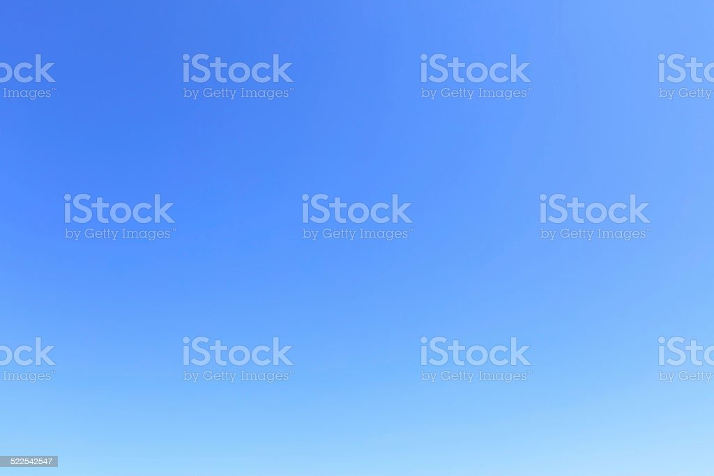 Cloudless blue sky stock photo