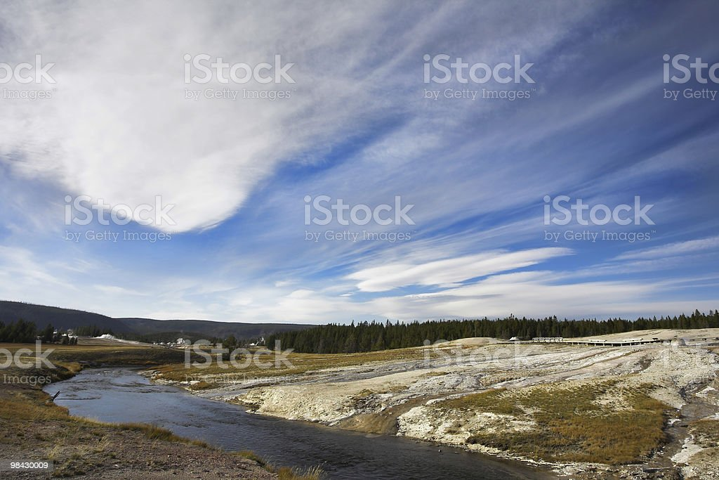 Clouds above meadows royalty-free stock photo