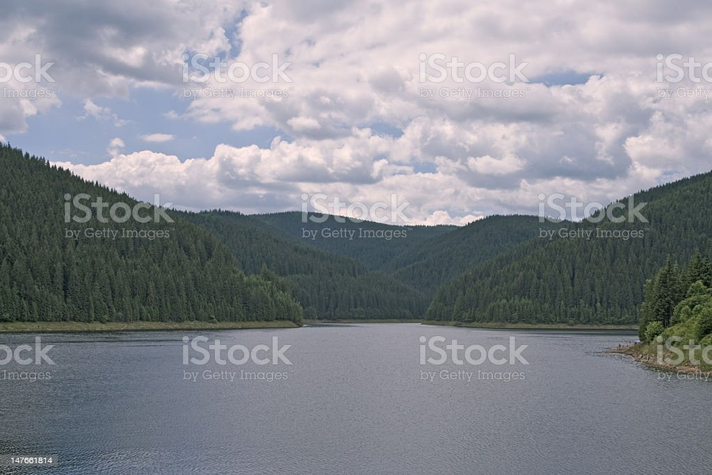 Clouds above the lake royalty-free stock photo