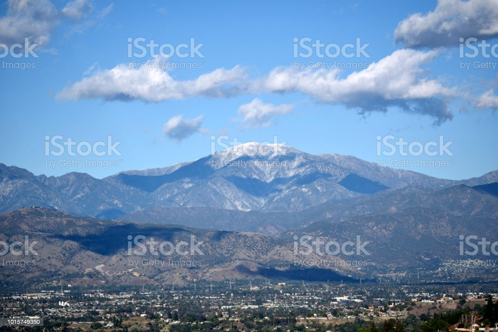 Clouds Above the Mountain Range stock photo