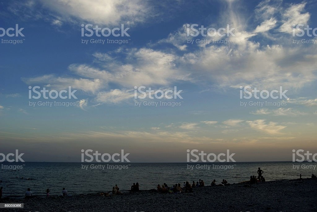 Clouds above the sea royalty free stockfoto