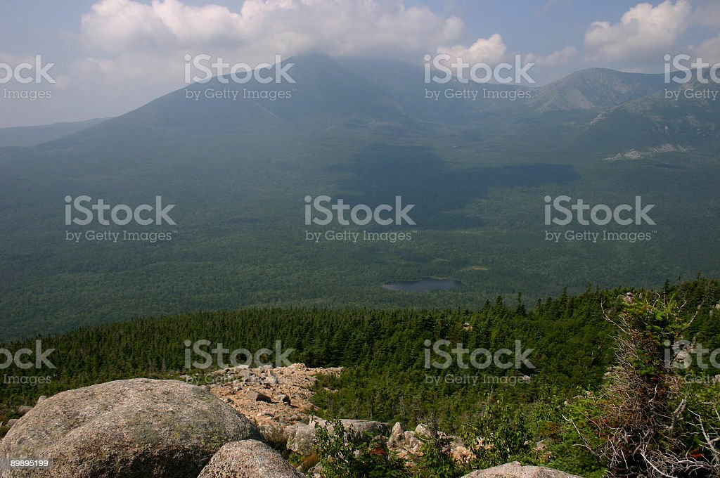 Clouds across Katahdin royalty-free stock photo