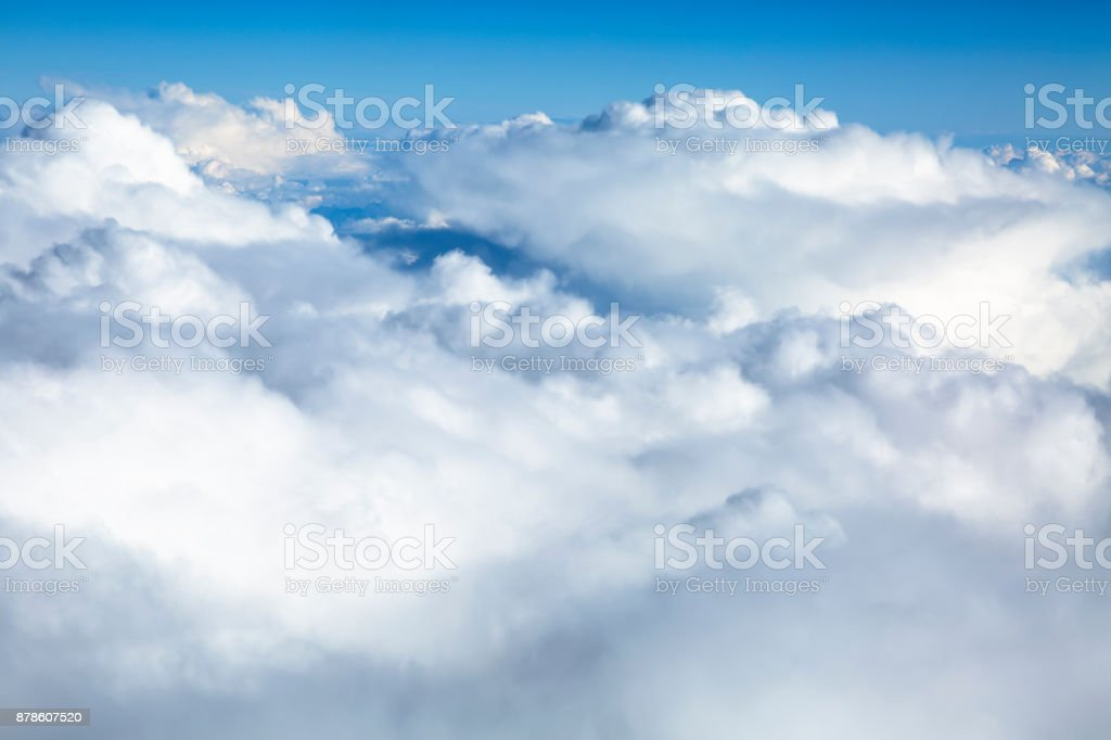 Clouds Aerial View stock photo