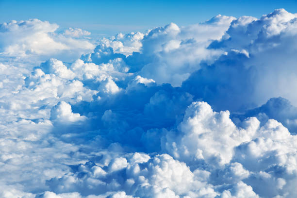 clouds aerial view - clouds stock photos and pictures