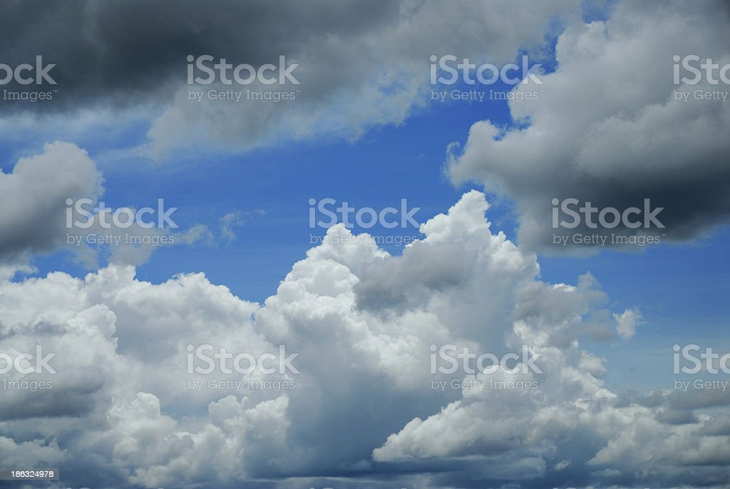 clouds against blue sky royalty-free stock photo
