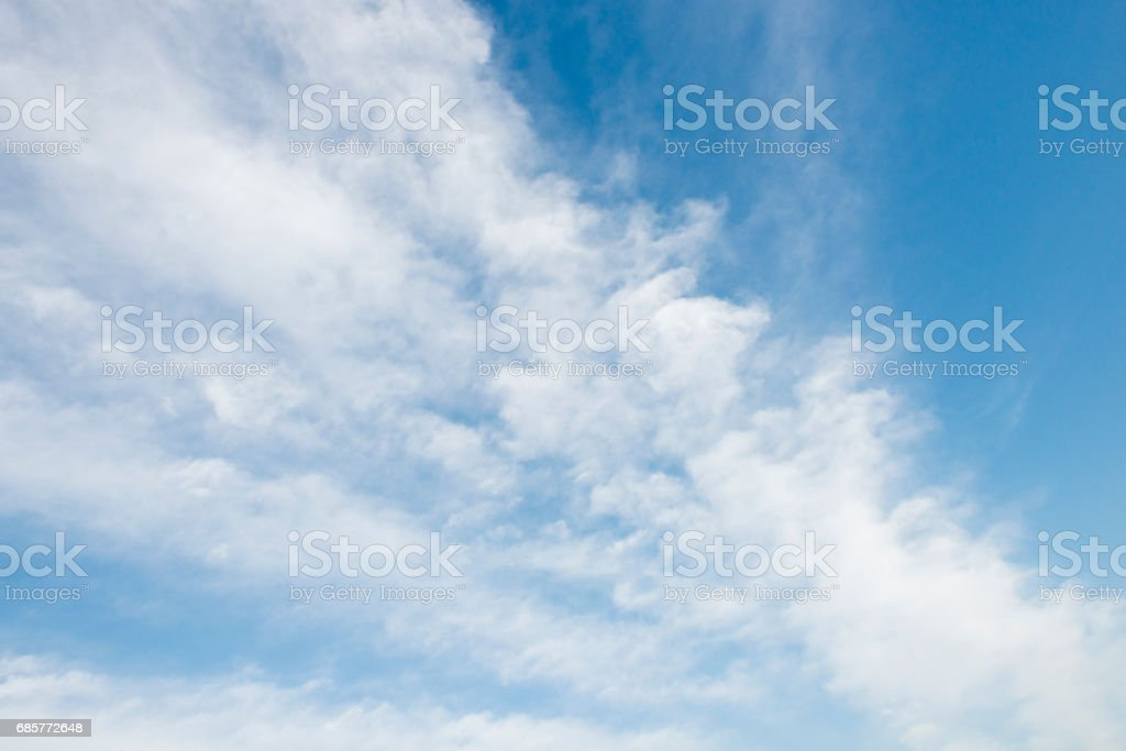 Clouds and Blue Sky Background royalty-free stock photo