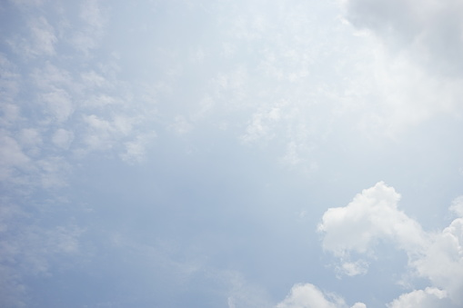 937694668 istock photo Clouds and bright blue sky background 1154598086