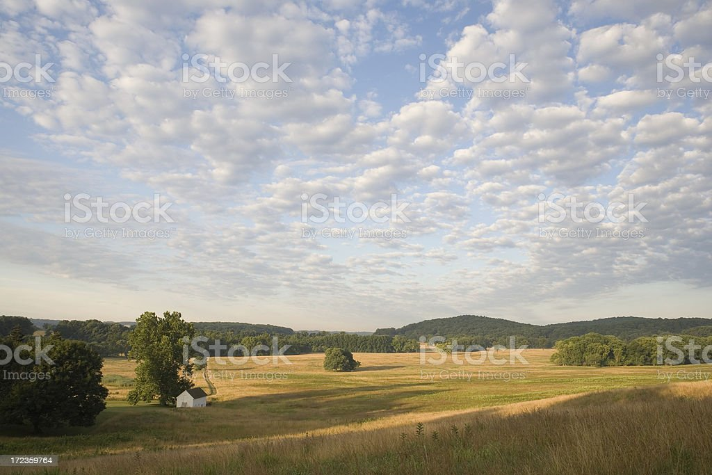 Clouds and Meadow royalty-free stock photo