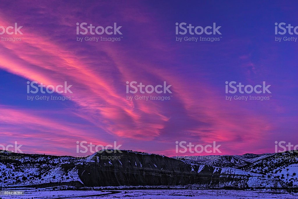 Clouds and Mountain View stock photo