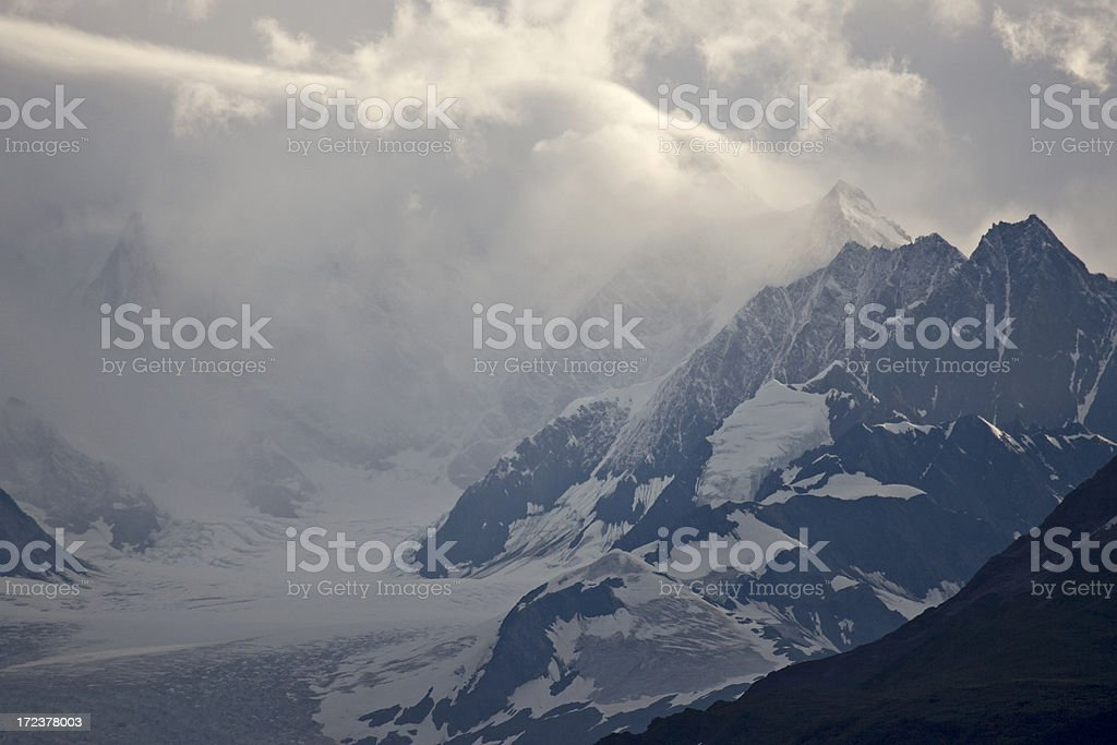 Clouds and Mountains royalty-free stock photo