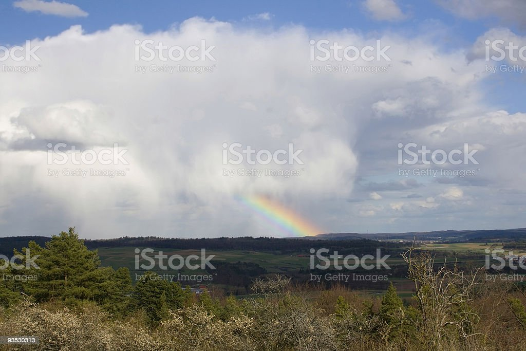 Clouds And Rainbow royalty-free stock photo