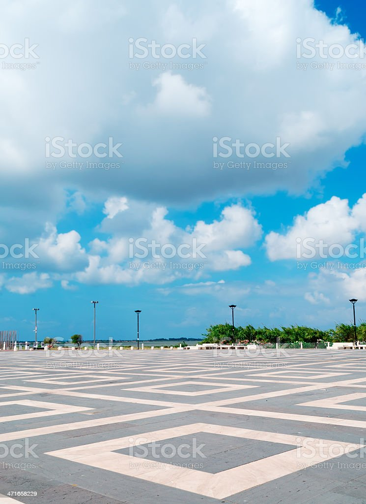 clouds and rhombus royalty-free stock photo