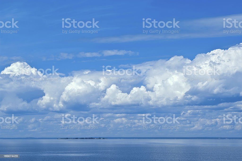 clouds and sea stock photo