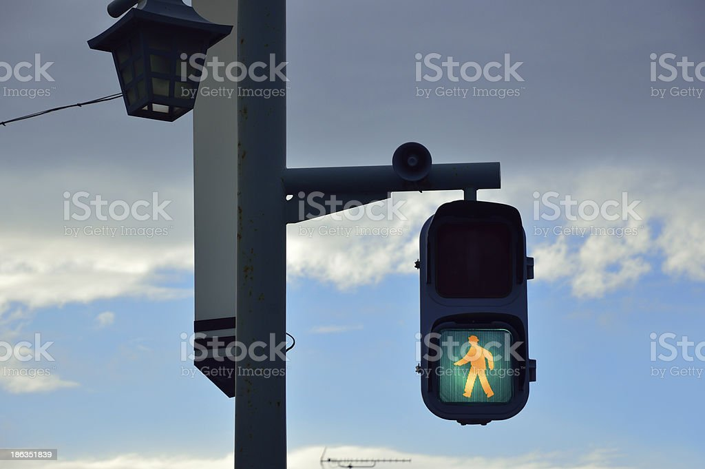 Clouds and signal royalty-free stock photo