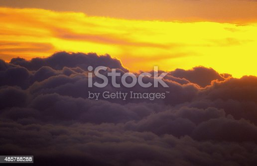 497491241 istock photo Clouds And Sky At Sunset In Summer 485788288