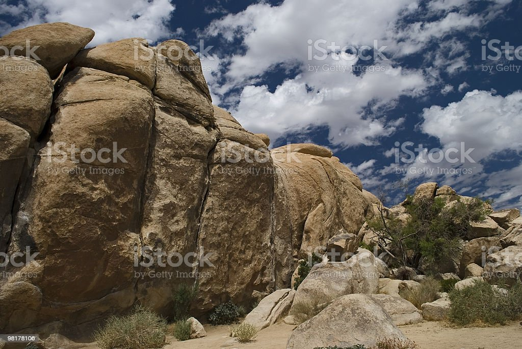 Clouds and Stone royalty-free stock photo