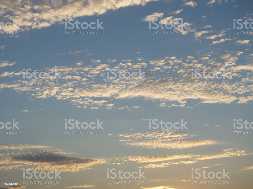 clouds and sun in sky stock photo