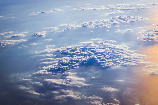 Clouds and sun over the skies of Europe