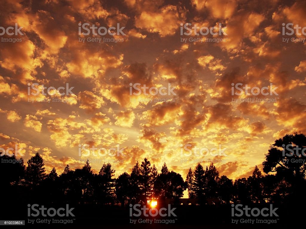 Clouds and sunset stock photo