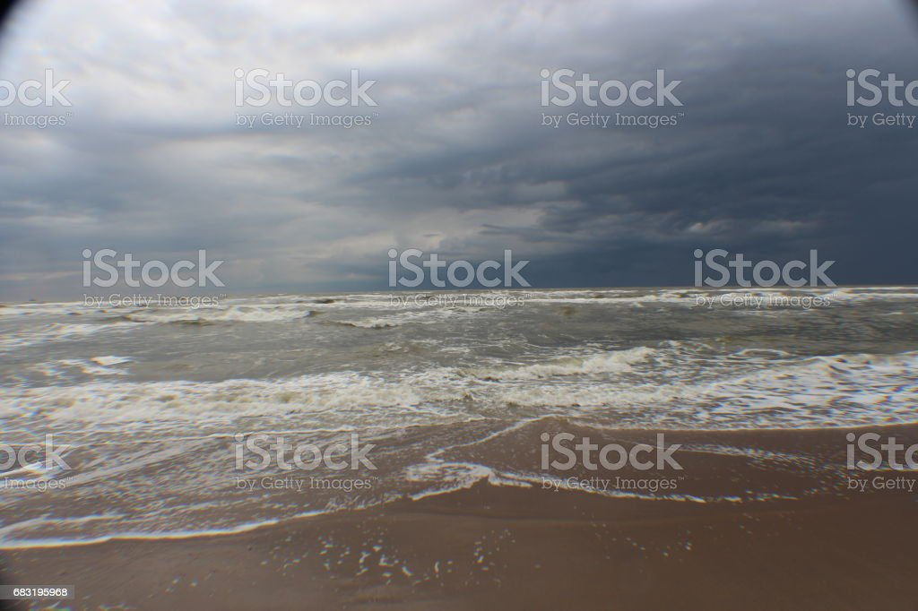 Clouds And The Sea - A Study In The Netherlands royalty-free stock photo