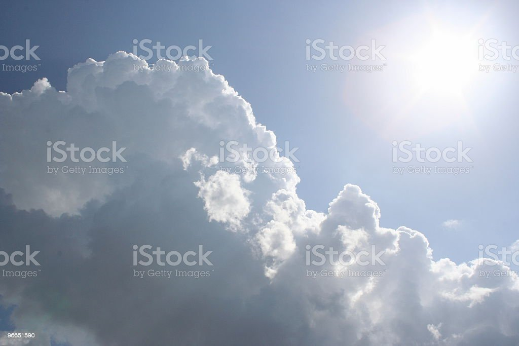 Clouds and the Sun stock photo