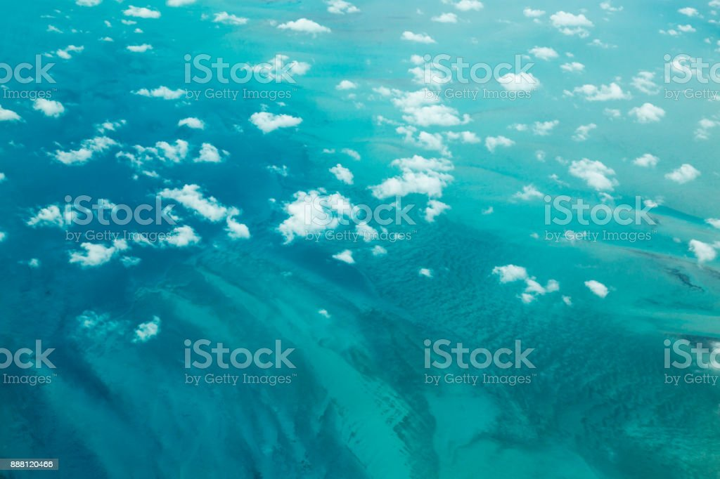 Clouds and Turquoise Sea stock photo