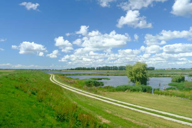 Clouds approaching the Reevediep waterway near Kampen in the IJsseldelta
