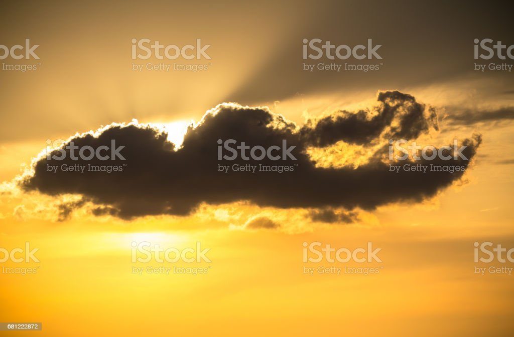 Clouds at beautiful sunset royalty-free stock photo