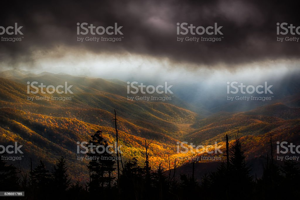 Clouds at Clingman's Dome stock photo