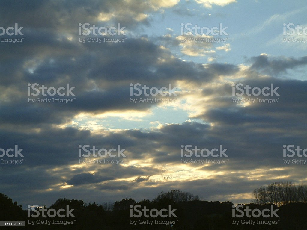 Clouds at Dusk - vertical royalty-free stock photo