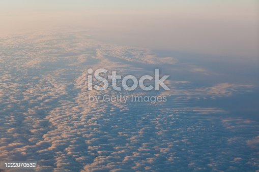1045890176 istock photo clouds at sunset from the plane in the sky landscape 1222070532