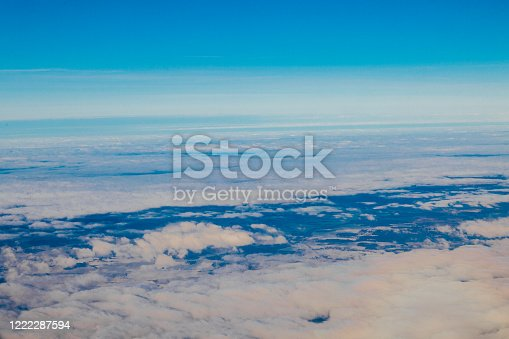 1045890176 istock photo clouds at sunset from the plane in the sky landscape 1222287594