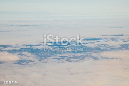 1045890176 istock photo clouds at sunset from the plane in the sky landscape 1223387380