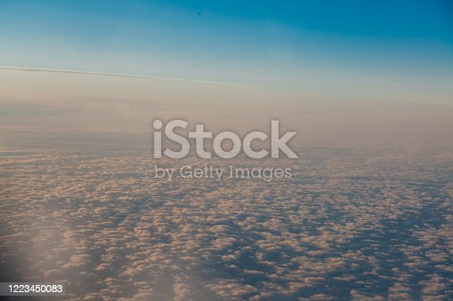 1045890176 istock photo clouds at sunset from the plane in the sky landscape 1223450083