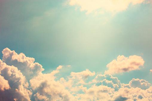 Vanilla sky with copy space