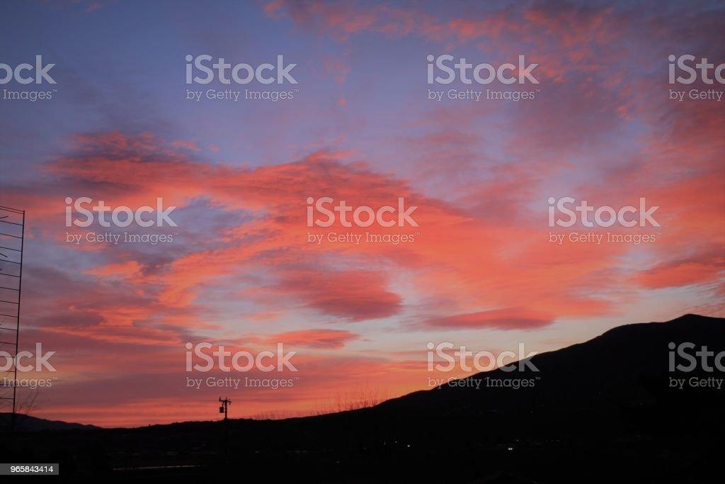 Wolken voor zonsopgang - Royalty-free Berg Stockfoto
