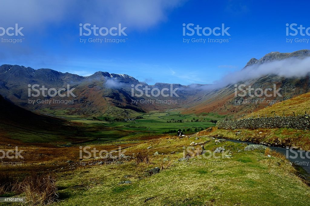 Clouds below the Fells stock photo
