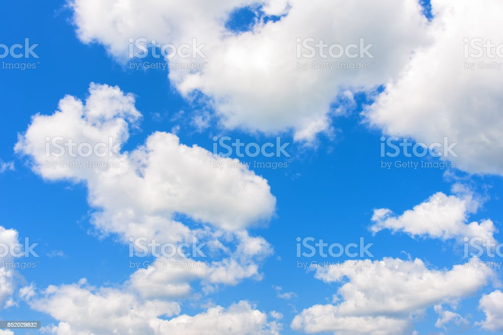 clouds blue sky stock photo
