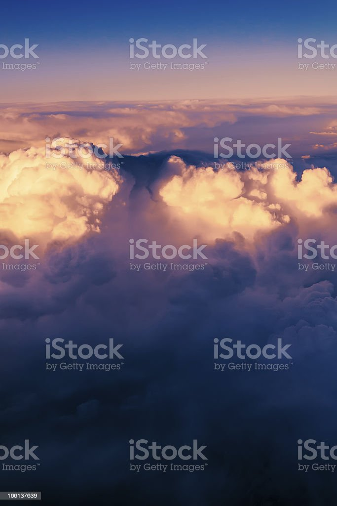 Clouds. bright morning dawn in the sky royalty-free stock photo