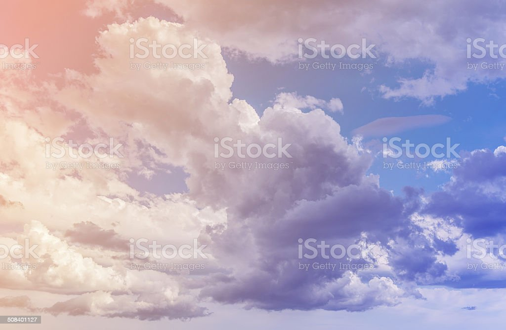Clouds. Color toned image. stock photo