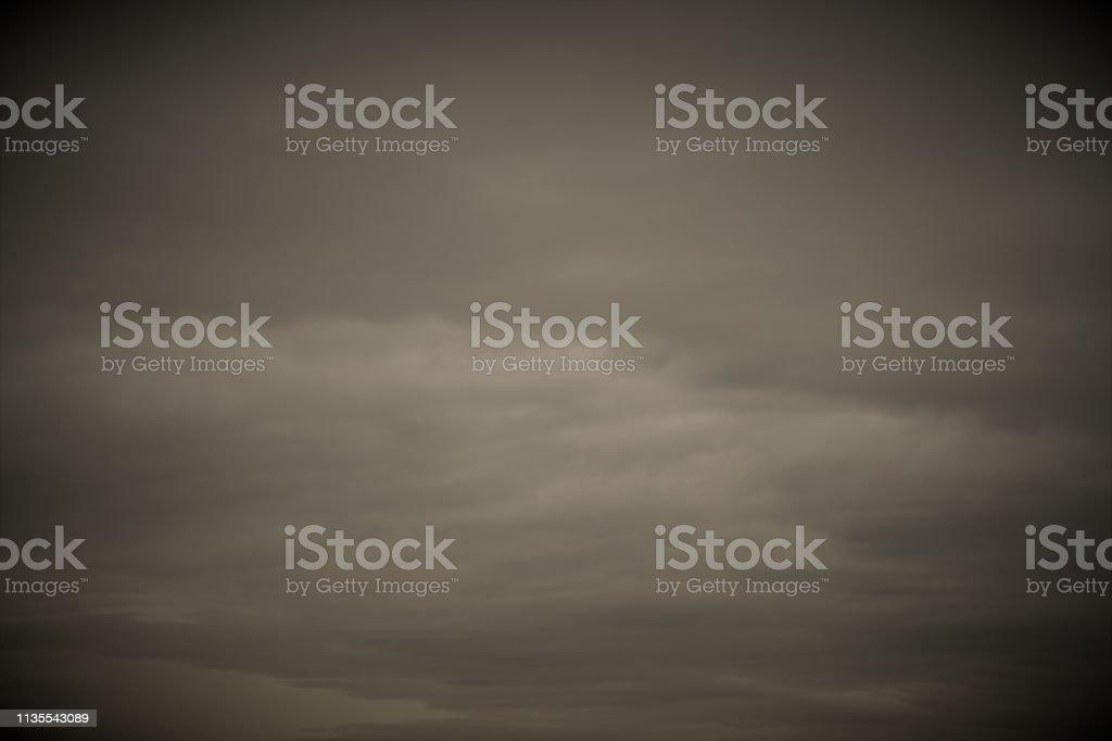 Wolken, Bedeckter Himmel, Sepia, Vignette – Foto