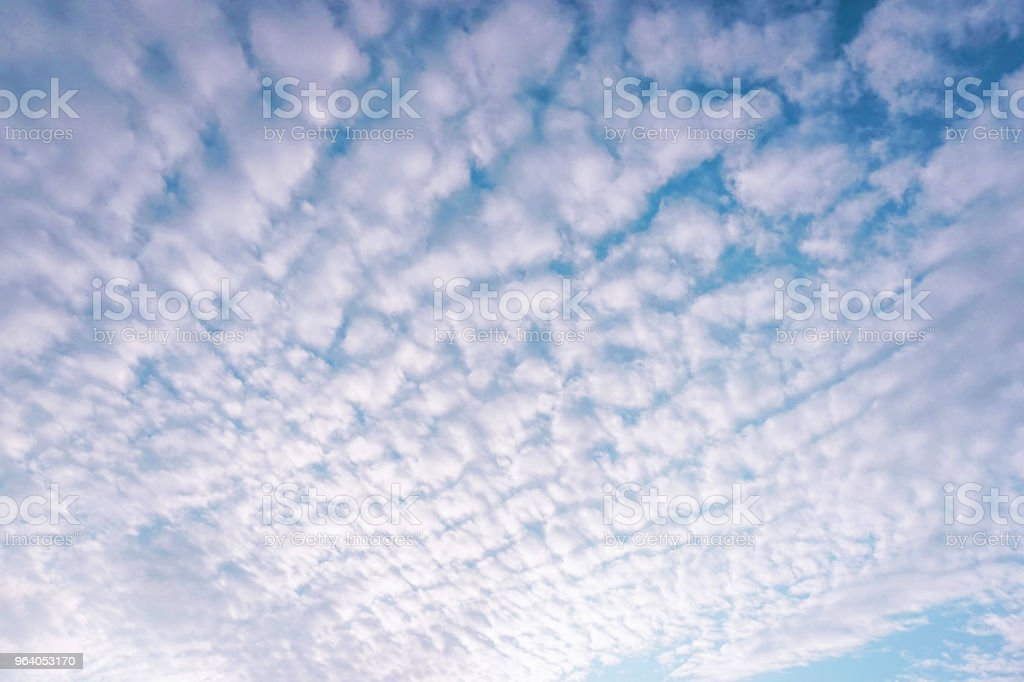 clouds dispersed filled in the sky - Royalty-free Atmosphere Stock Photo