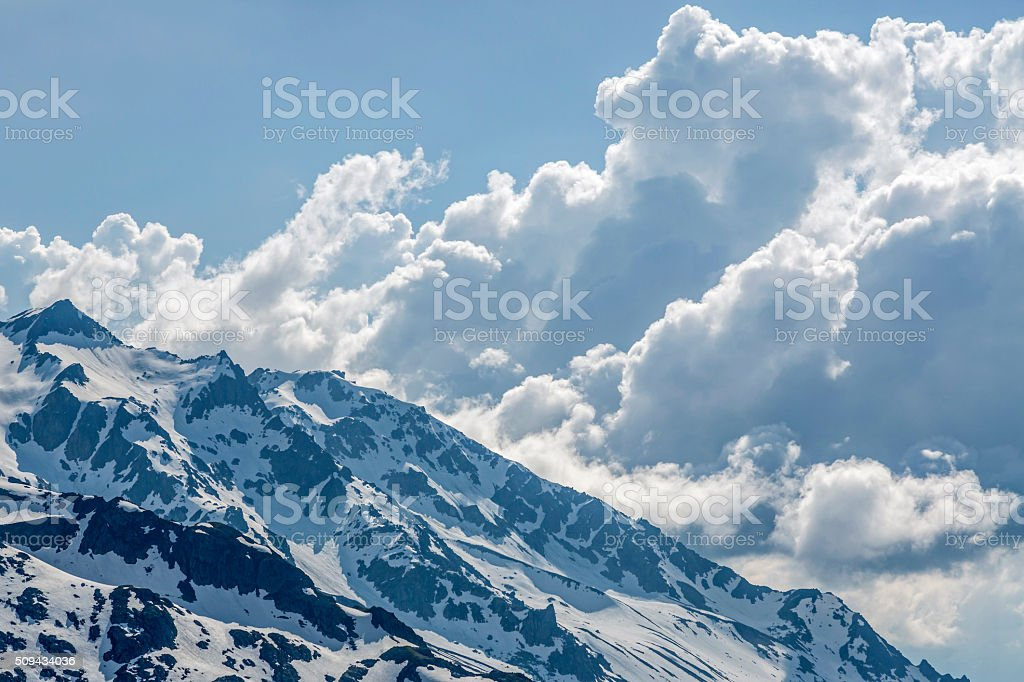 clouds drift stock photo