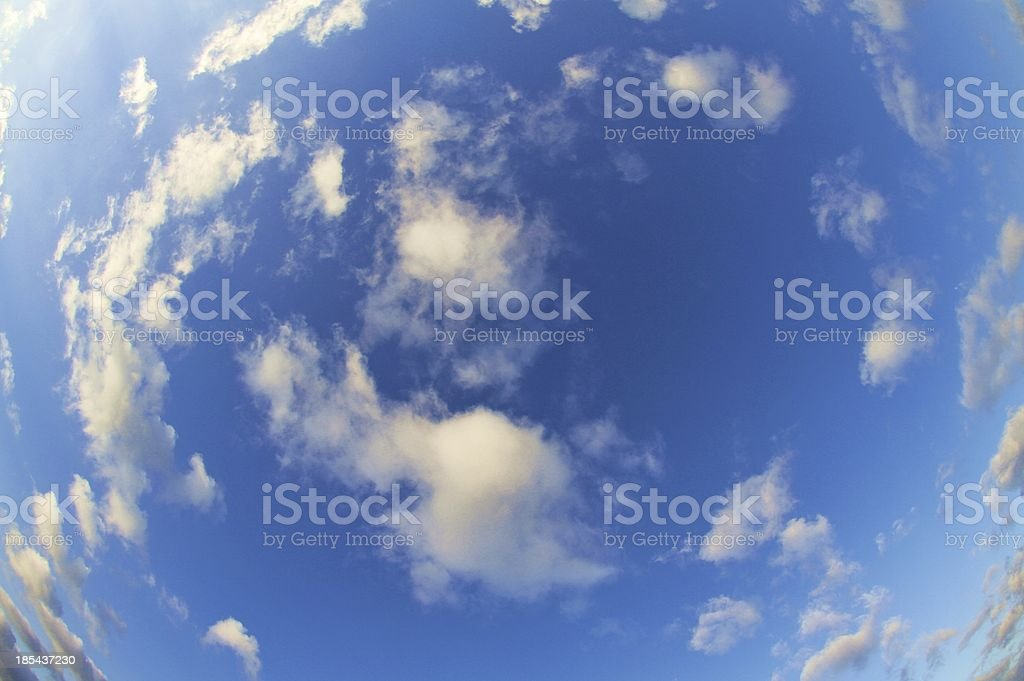 Clouds - Fisheye shot royalty-free stock photo