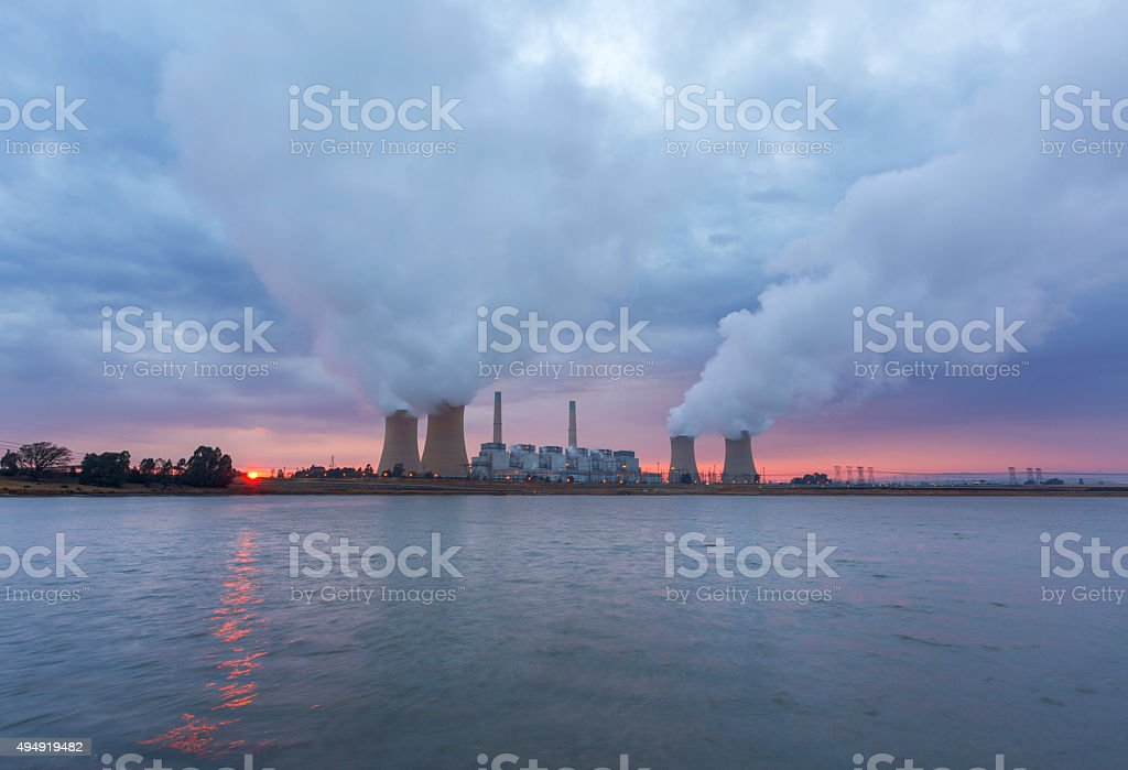 Clouds, Fog and water stock photo