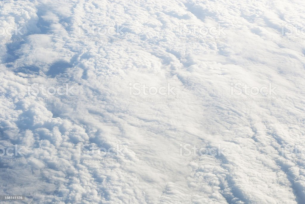 clouds from above royalty-free stock photo