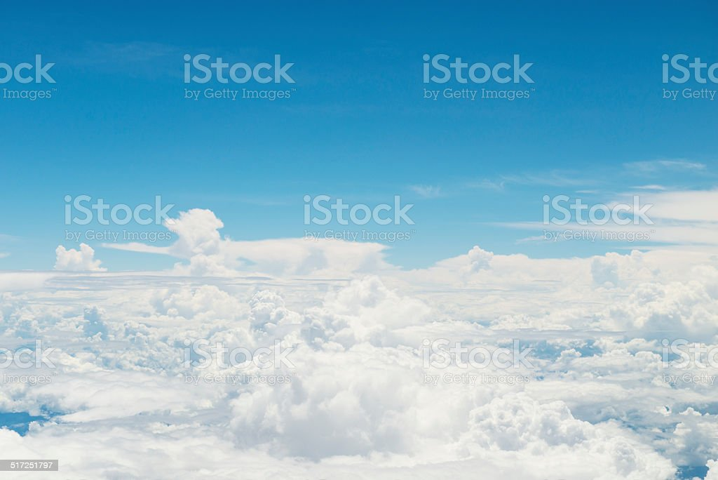 Clouds from above stock photo