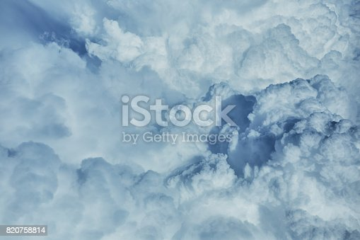 istock Clouds from airplane 820758814