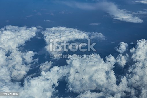 istock Clouds from airplane 820759002