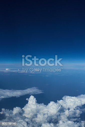 istock Clouds from airplane 820759140